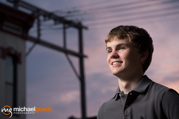 Matthew, Lincoln Community High School senior, 2014 :: Michael Gowin Photography, Lincoln, IL