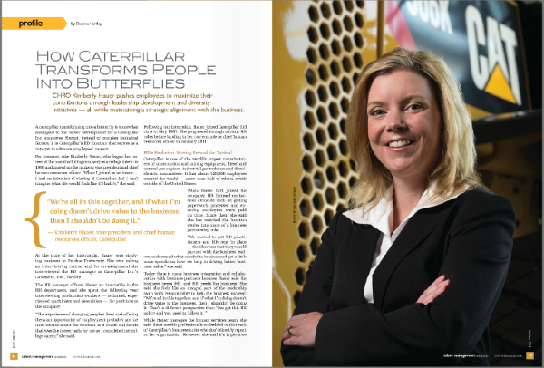 Kimberly Hauer, VP of Human Resources, Caterpillar Inc., Peoria, IL, in Talent Management Magazine, October 2013 :: Michael Gowin Photography