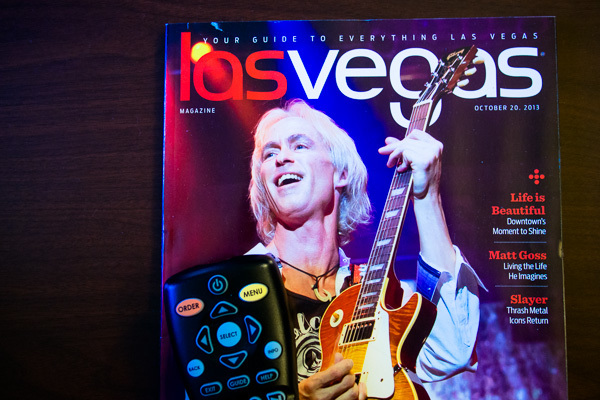 This was the closest I got to any Las Vegas entertainment: the guide in the hotel room. I never opened it. Actually, I did get out once: my buddy Trevor, who lives in Las Vegas, showed me old Las Vegas on my first trip. We walked around the downtown area but I didn't take any photos.