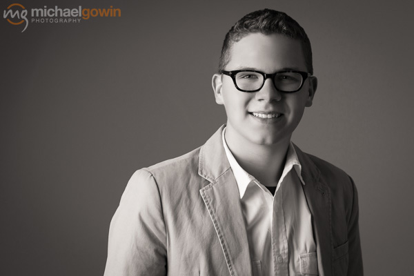 Ryder, Lincoln Community High School senior portrait :: Michael Gowin Photography, Lincoln, IL