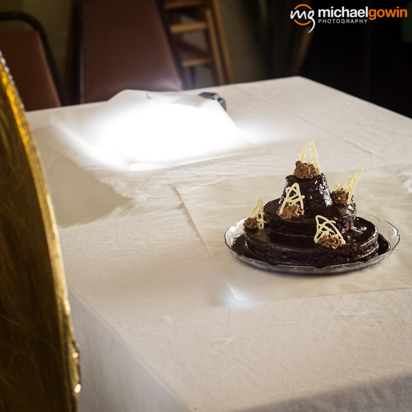 Lighting setup for the cake photo :: Michael Gowin Photography, Lincoln, IL
