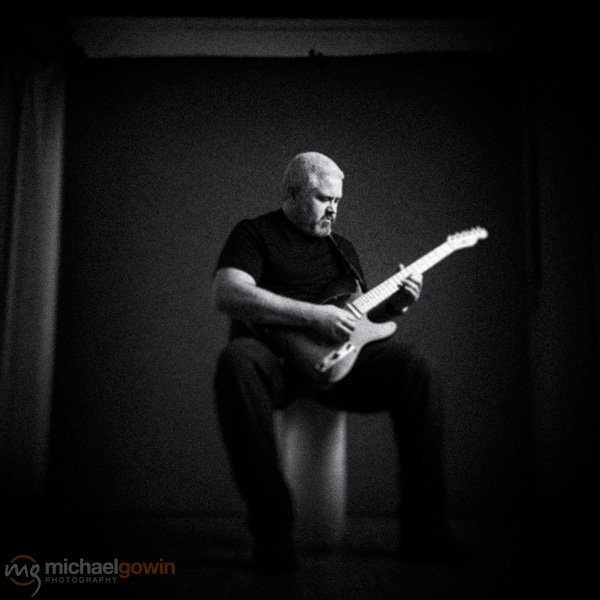 Rob Maupin, guitarist portrait with Telecaster :: Michael Gowin Photography, Lincoln, IL