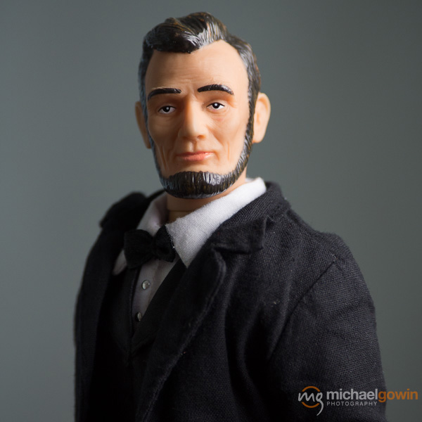 Mini Abraham Lincoln, promoter of Illinois tourism :: Michael Gowin Photography