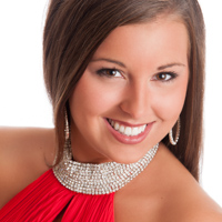 Woman's pageant contestant headshot, Lincoln, Illinois