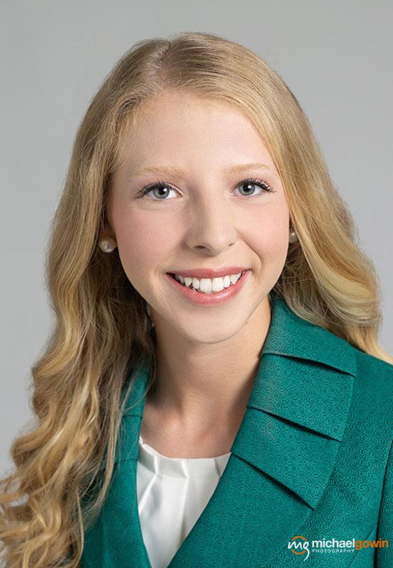 Molly Schempp, Fair Queen Business Headshot - Michael Gowin Photography, Lincoln, IL