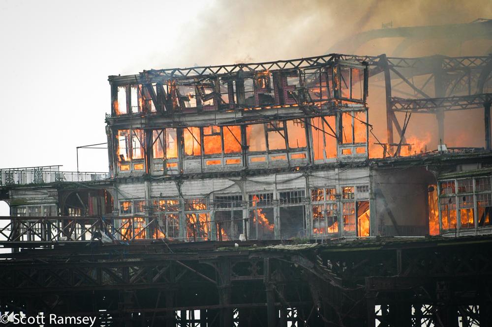 Brighton West Pier Fire 1