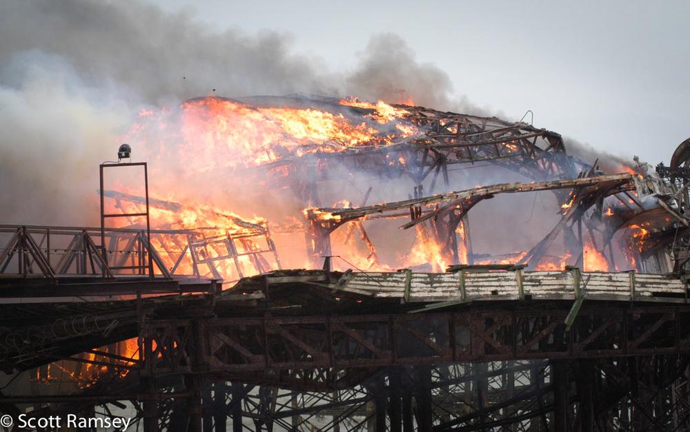 Brighton West Pier Fire 4