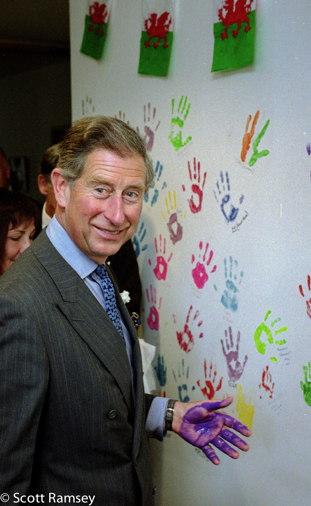 Prince Charles Handed Painted