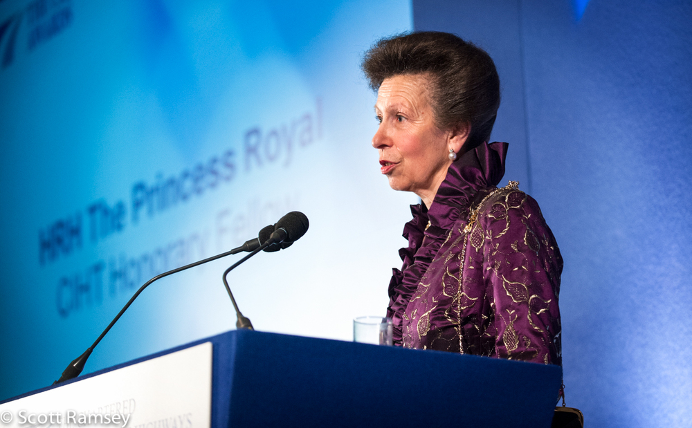 HRH Princess Royal was guest of honour at an awards night I was asked to photograph at Gibson Hall in London.