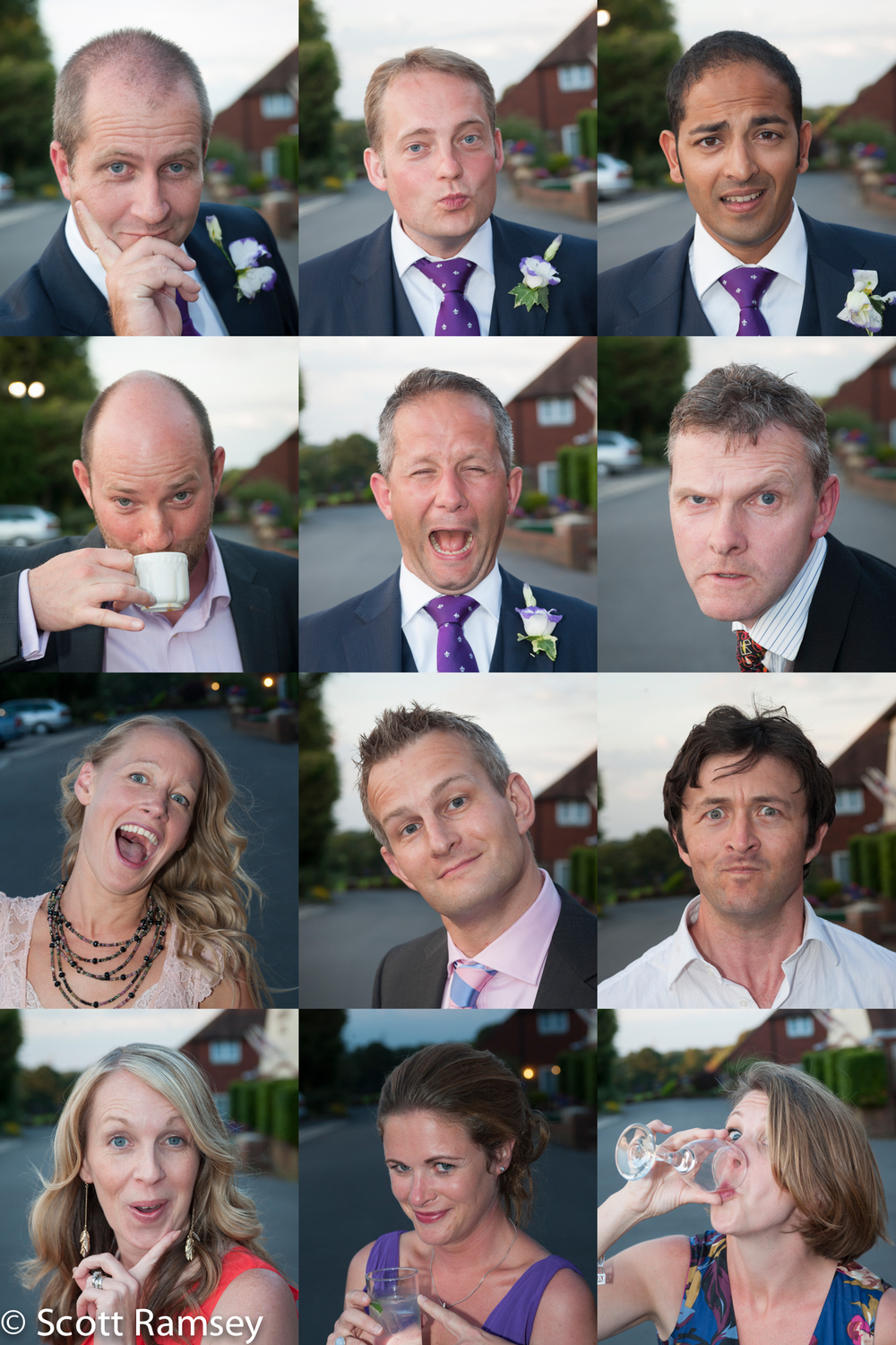 Create a fun photomontage of your wedding guests.