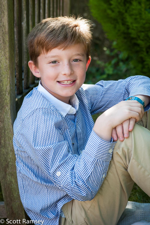 Happy Boy Garden Portrait