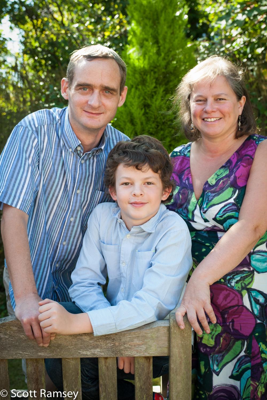 Parents And Son Portrait