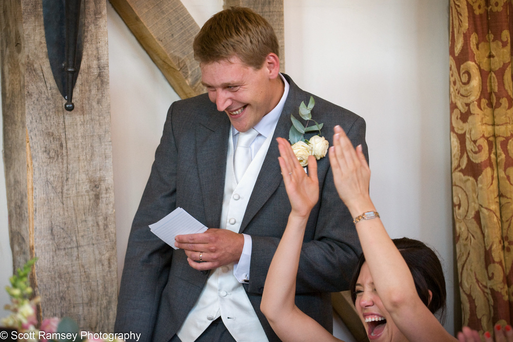 Grooms Speech Guest Cheers Gate Street Barn