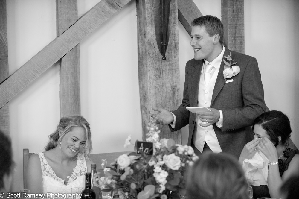Grooms Wedding Speech At Gate Street Barn