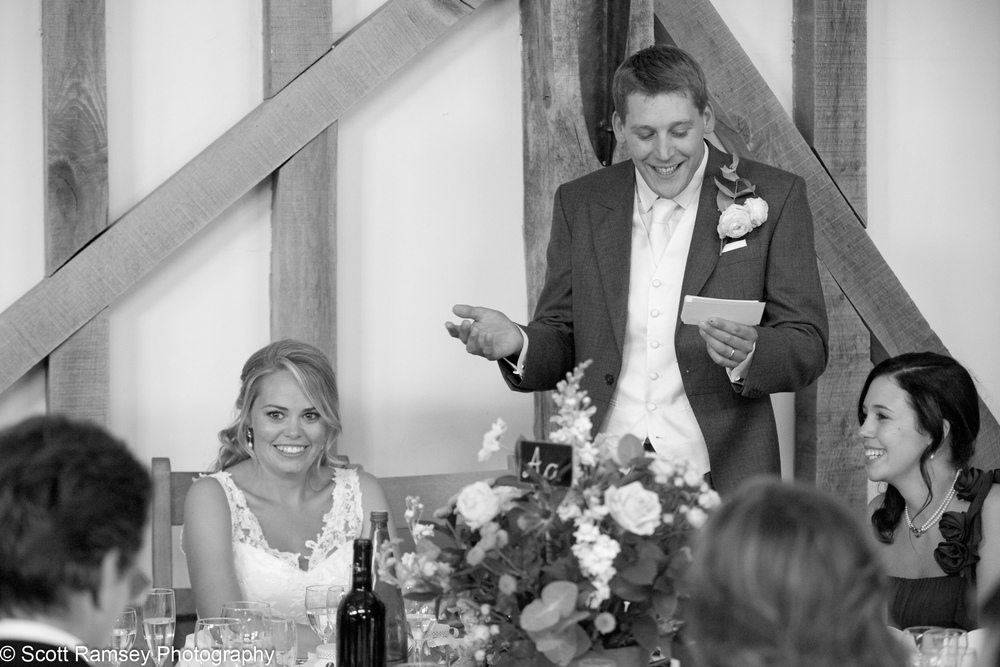 Grooms Wedding Speech Gate Street Barn
