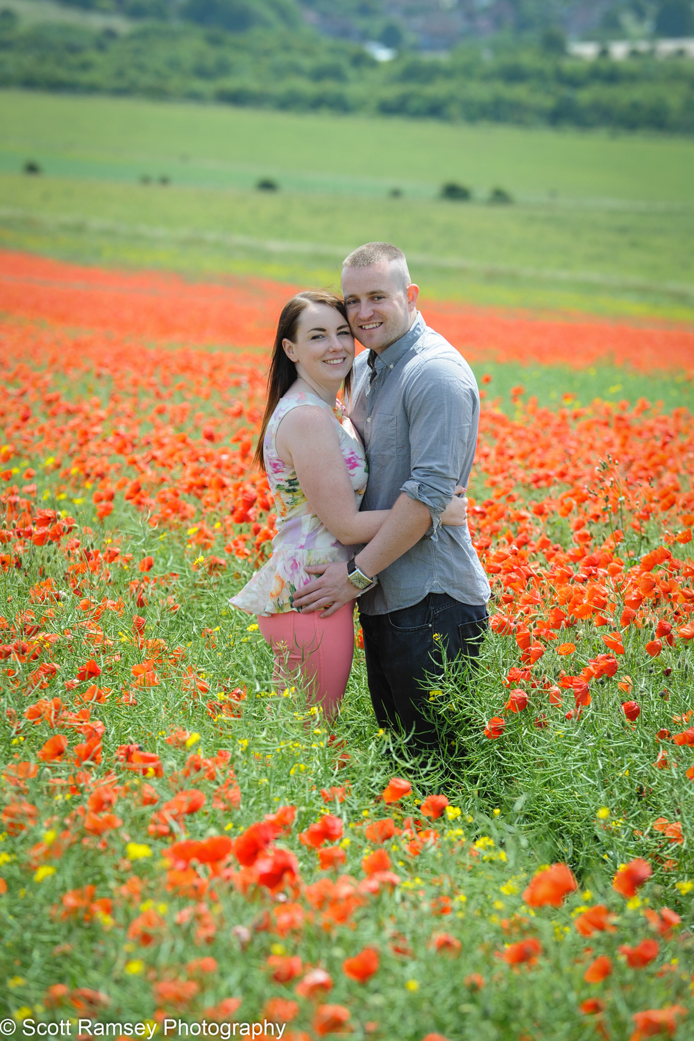 Poppy Field Engagement Photos