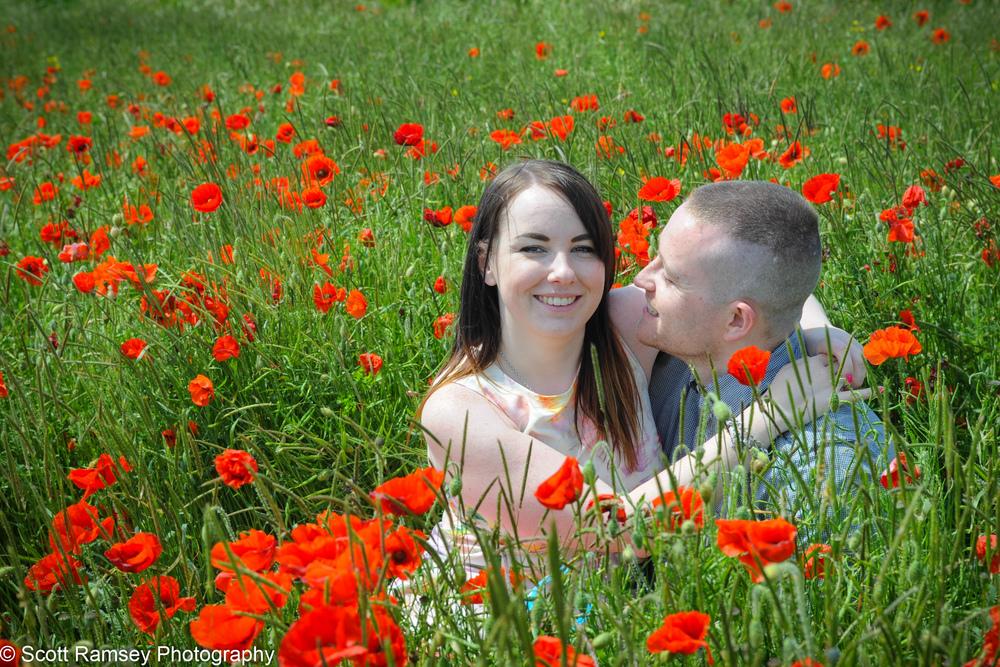 Poppy Field Engagement Photo