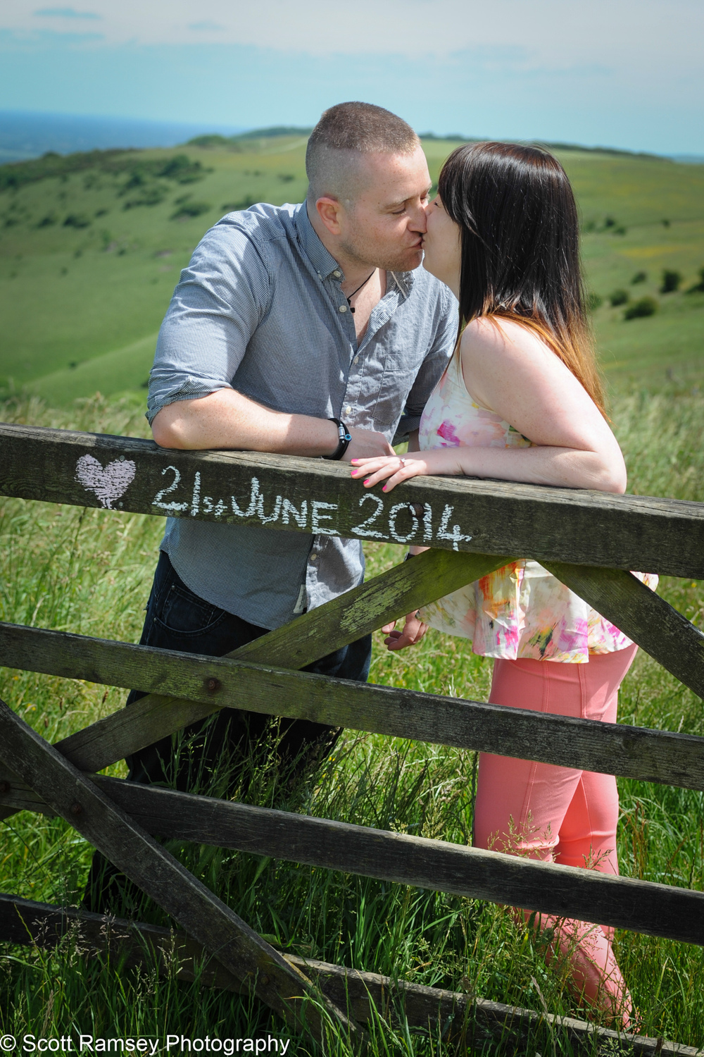 Save The Date Kissing Photograph