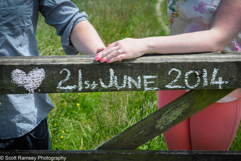 Save The Date Holding Hands Photo