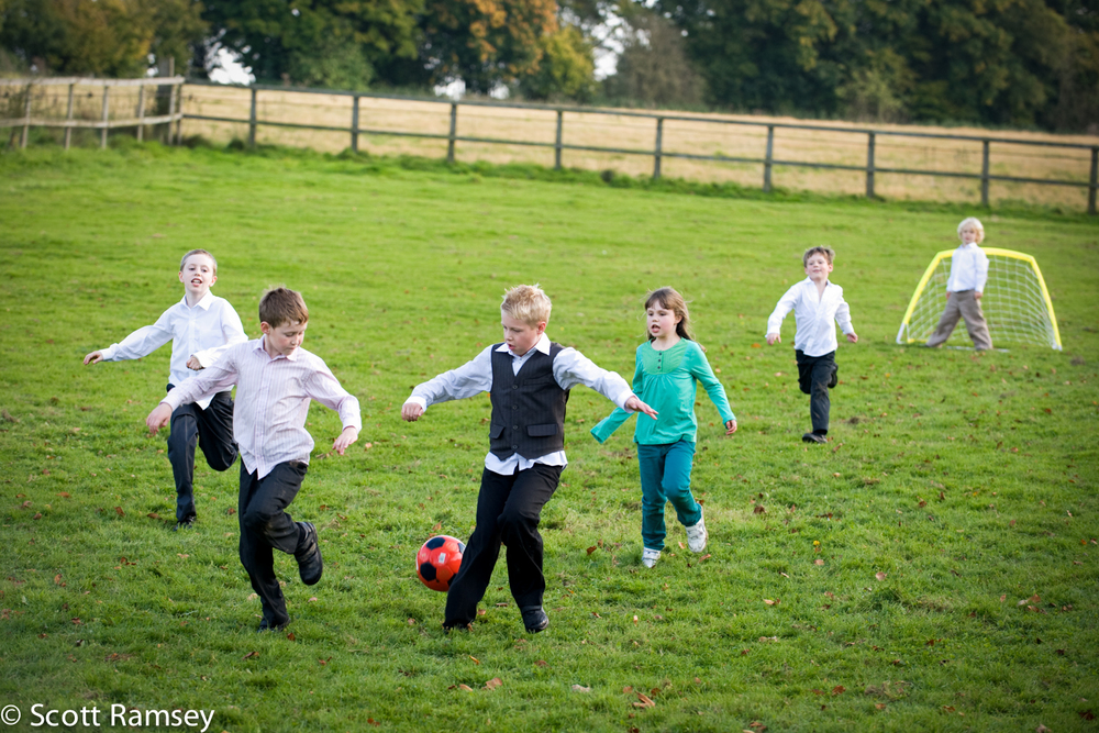 Wedding Reception Kids Football