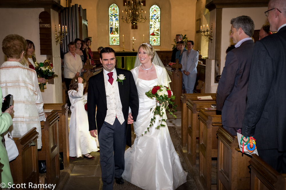 St Thomas Church Wedding East Clandon.
