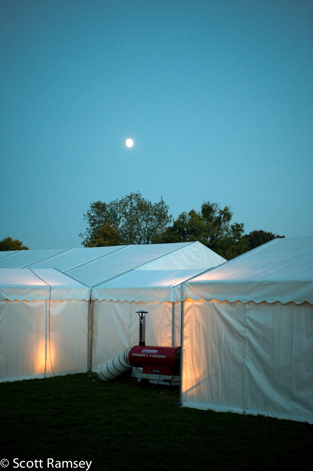 Wedding Marquee At Night Surrey