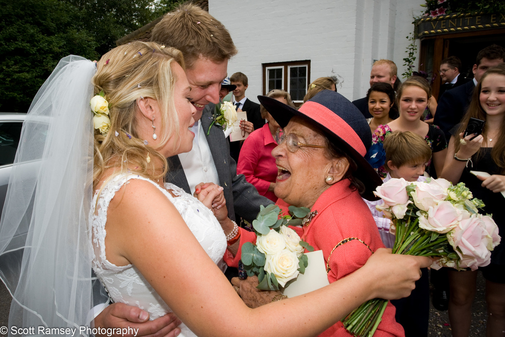 Bride And Groom Congratulated