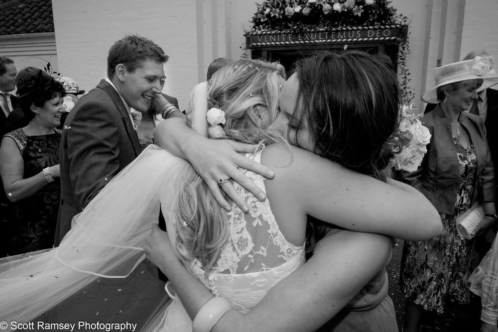 Bride Gets A Hug