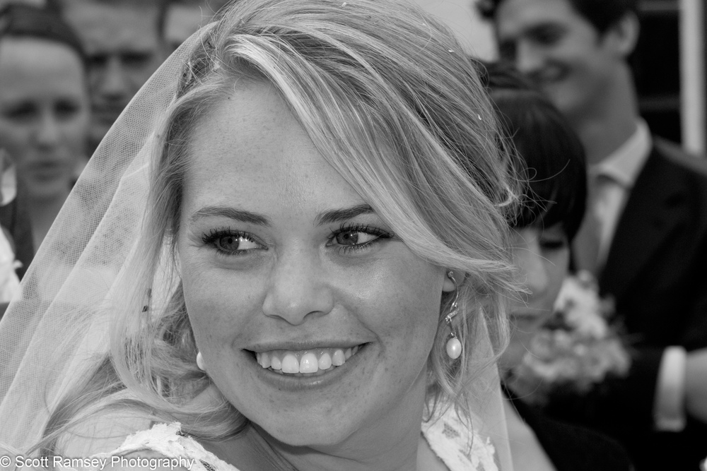 Smiling Bride Esher Surrey