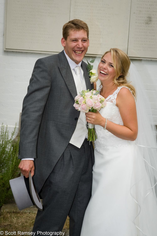 Happy Bride And Groom Surrey