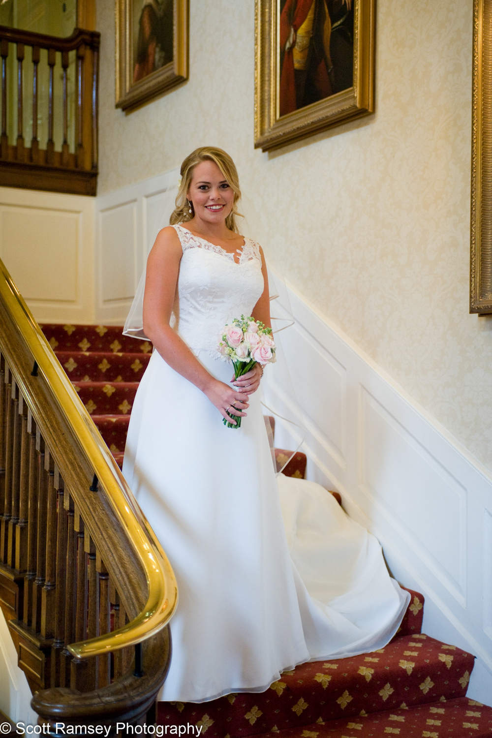 Bride On Stairs Surrey