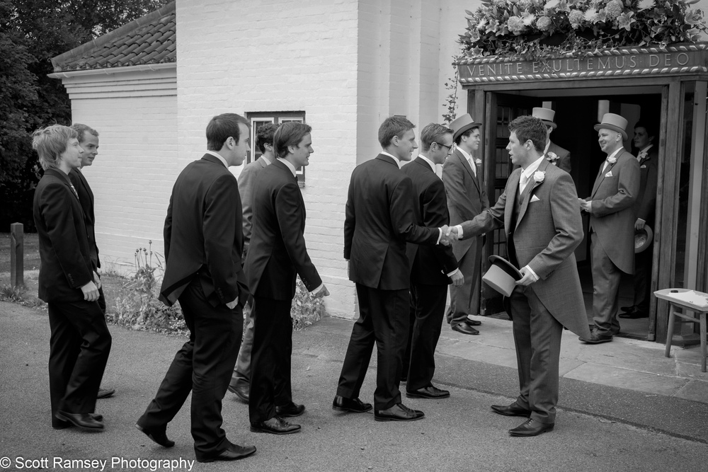 Guests Arrive Esher Wedding
