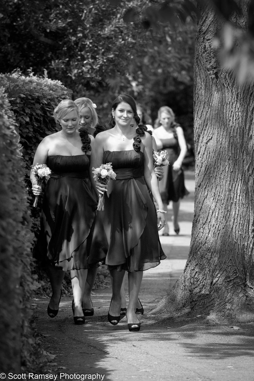 Flower Girls Arrive Esher Wedding