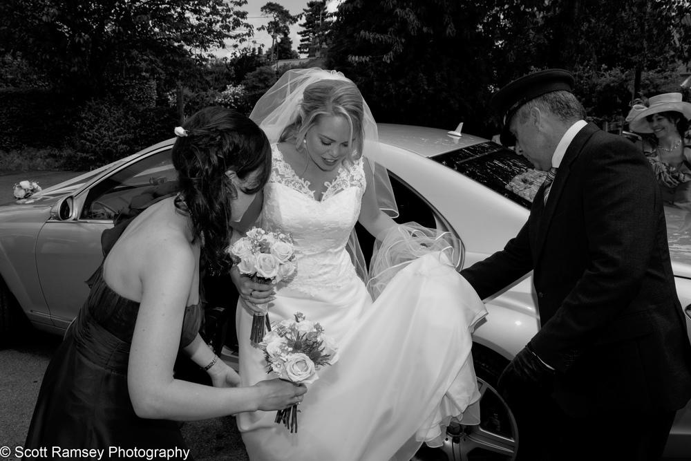Bride Arrives All Saints Church
