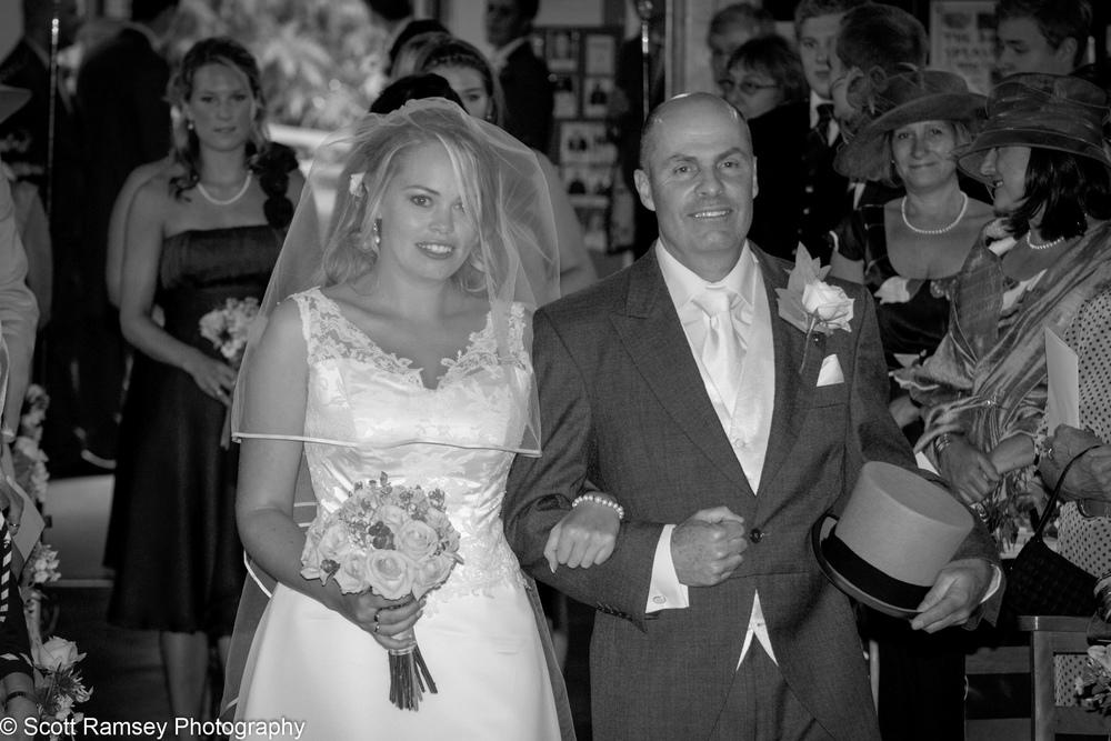Wedding Bride Arrives