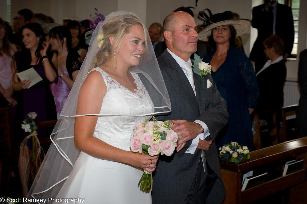 Bride At All Saints Church Esher