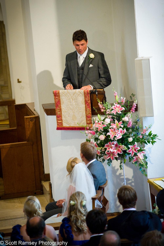 Wedding Reading Church Easher