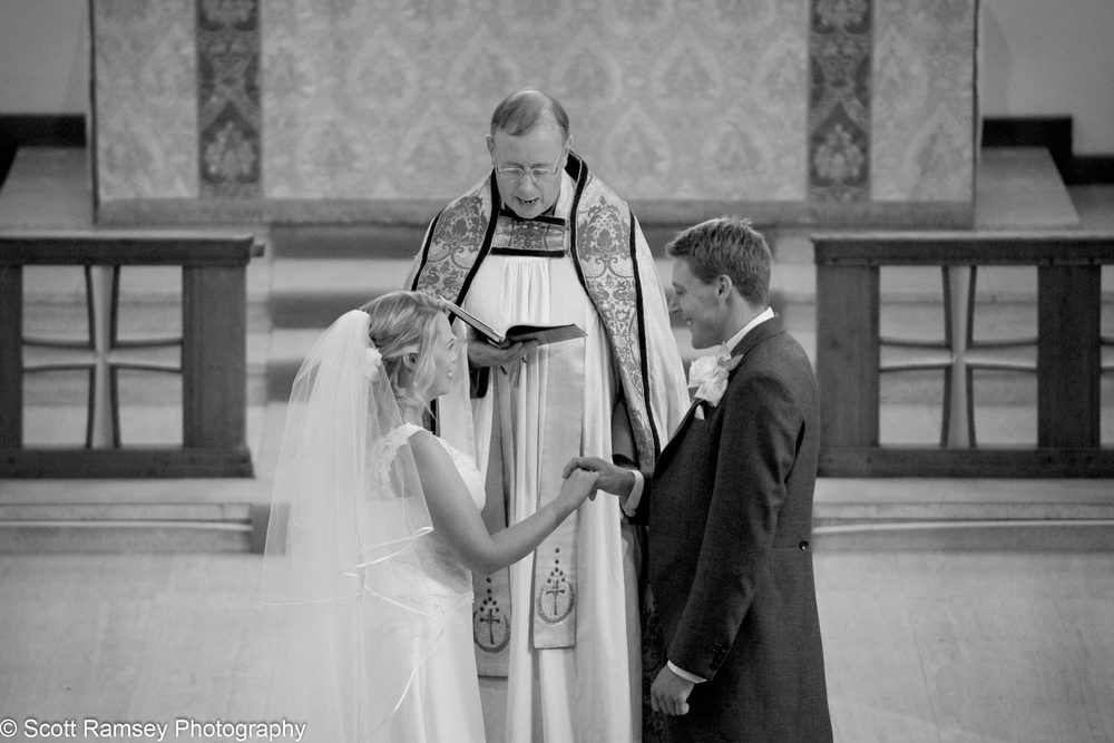 Bride And Groom Esher Wedding