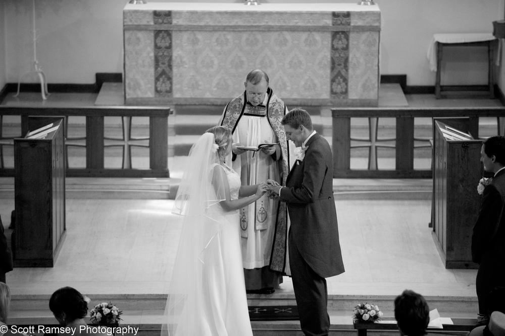 Exchange Of Rings Esher Wedding