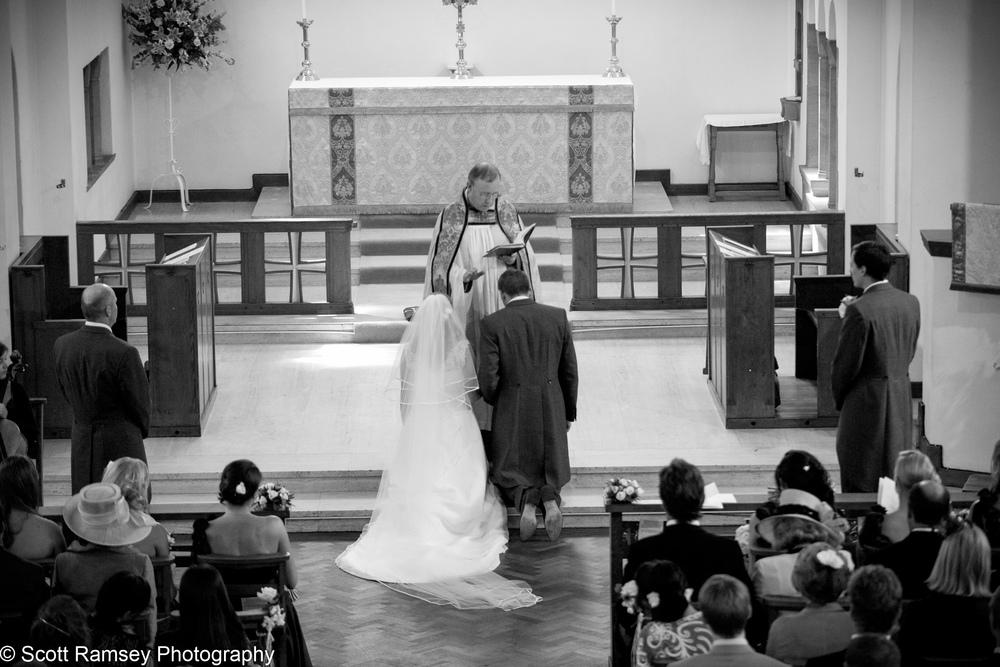 Couple Blessed Wedding Esher