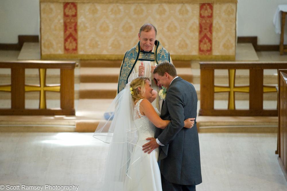 Wedding Esher Bride and Groom