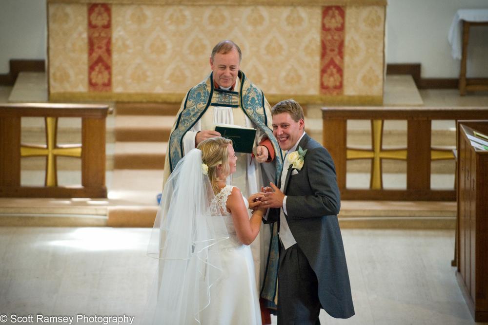 Happy Groom Esher Wedding
