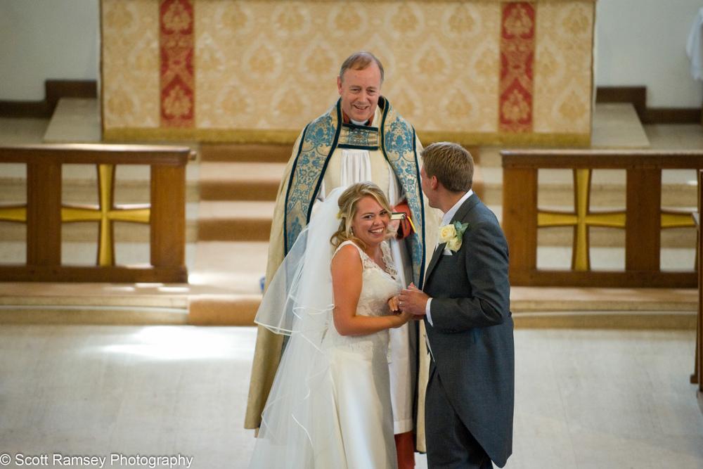 Happy Bride Esher Wedding