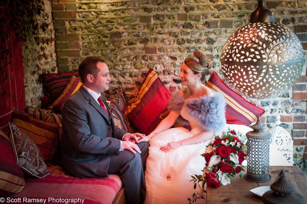 Upwaltham Barns Wedding Bride And Groom Snug 15121230