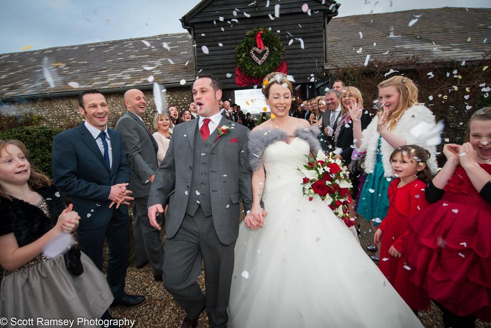 Upwaltham Barns Wedding Confetti 15121232