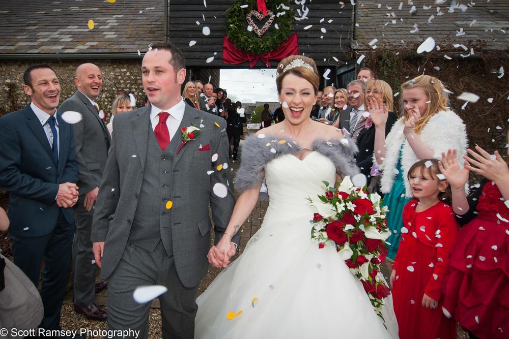 Upwaltham Barns Wedding Confetti 15121233