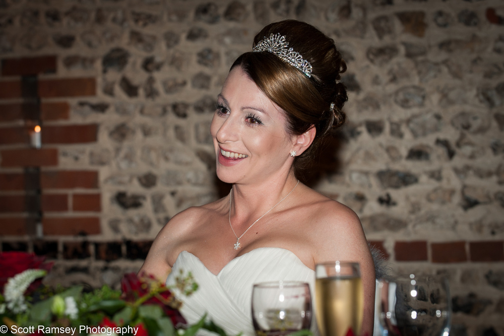 Upwaltham Barns Wedding Happy Bride 15121238