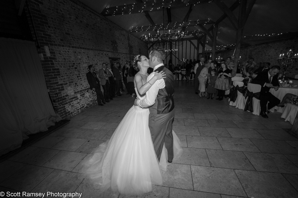 Upwaltham Barns Wedding First Dance Kiss 15121255