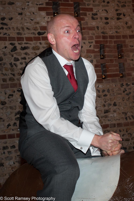 Upwaltham Barns Wedding Bucking Bronco Fun 15121264