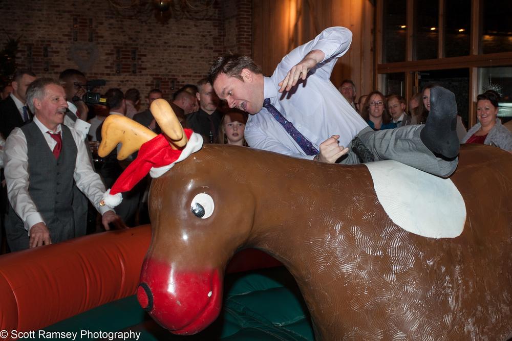 Upwaltham Barns Wedding bucking Bronco Fall 15121266